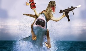 velociraptor-riding-a-shark